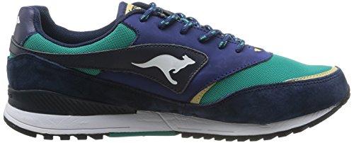 Kangaroos Frenzy Roos 002 B, Baskets mode homme Multicolore (Dk Navy/Smaragd 483)