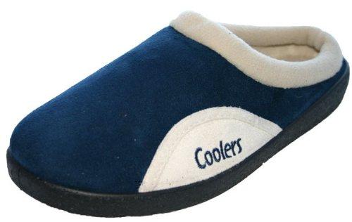 Coolers Pantoufles pour homme Marron foncé/bleu marine/marron clair Pointures 41 à 46