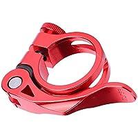 Abrazadera de tija de sillín de Bicicleta 31.8MM / 34.9MM Aleación de Aluminio Abrazadera de tija de sillín de Bicicleta Cierre rápido(31.8mm-Red)