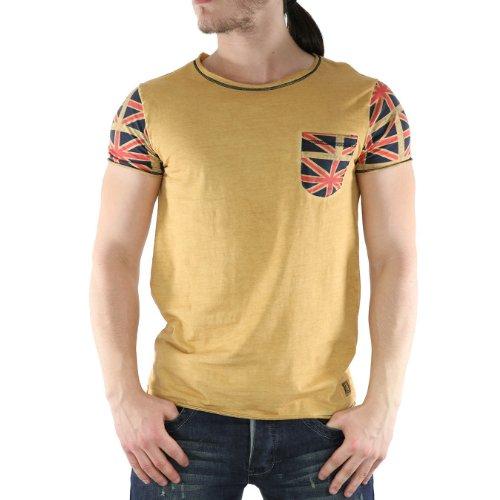 REPOCHDRAP-MTD - T-shirt Unisexe - Republic Denim - REPOCHDRAP-collare Crew - manica corta - Tendance e moda - zafferano - Giallo, Large