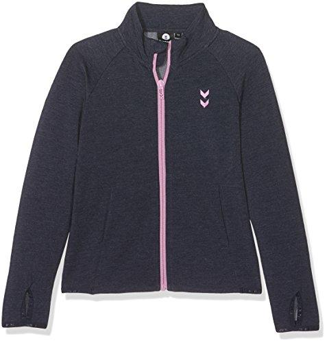 Hummel Mädchen Ayan Zip Sweatshirt Jacke, Total Eclipse, 128