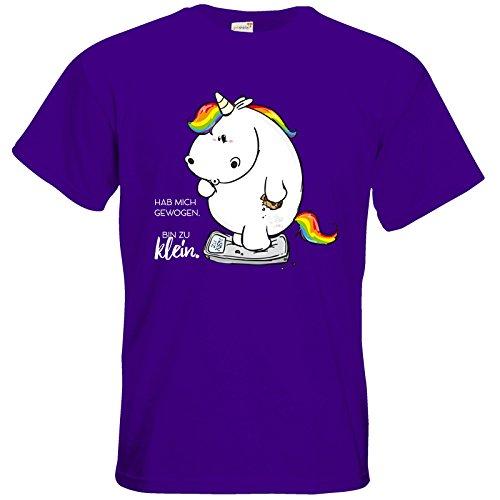 getshirts - Pummeleinhorn - T-Shirt - Gewogen Purple
