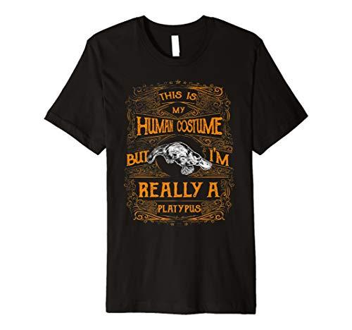 This Is My Echthaar Kostüm Ich bin wirklich ein Schnabeltier Funny Shirt