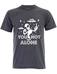 PALLAS Unisex's Alien UFO You Not Alone T-Shirt