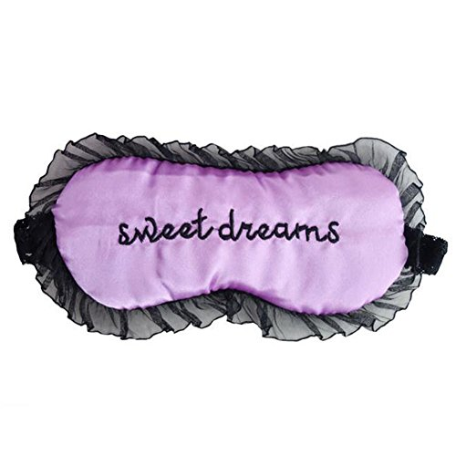 Drawihi 1PC Antifaces para Dormir 3D Inconsútil Respirable de Máscara Antifaces para dormir de encaje sexy(púrpura)