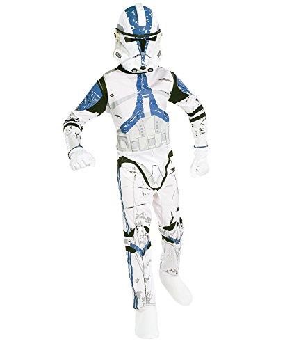 Star Wars-The Clone Wars Darth Vader Jedi Yoda Ragazzi Costume - bianco - S