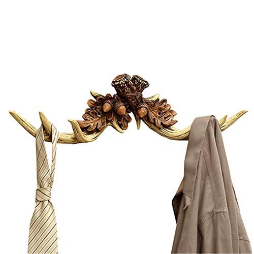 Gancho de pared Perchero rústico Llavero Titular de la joyería Estante de exhibición Ciervo realista Deco Vintage for baño Toallas Percha Percha rústica Adecuado para sala de baño decoración del hogar
