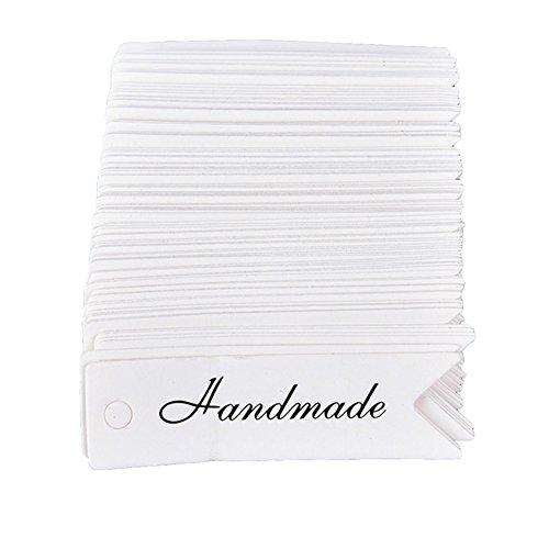 Sharplace 100 St/ück HOMEMADE WITH LOVE Runde Geschenk Anh/änger Kraftpapier Anh/ängeetiketten Etiketten Schilder mit Schnur