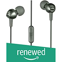 (Renewed) JBL C200SI in-Ear Headphones with Mic (Gun Metal)