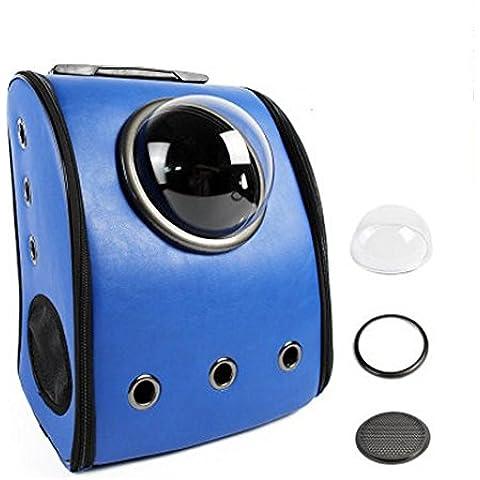 El astronauta cápsula perros y gatos gato pequeño perro fuera de la mochila del bolso de hombro de la mano transpirable ( Color : Blue (classic)
