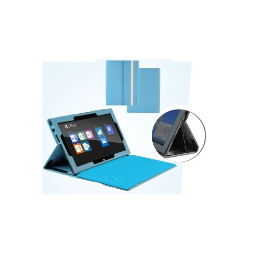 MiTAB blaues bycast Leder Case / Cover für das Microsoft Surface Rt & Windows 8 Pro 10.6 Zoll Tablet