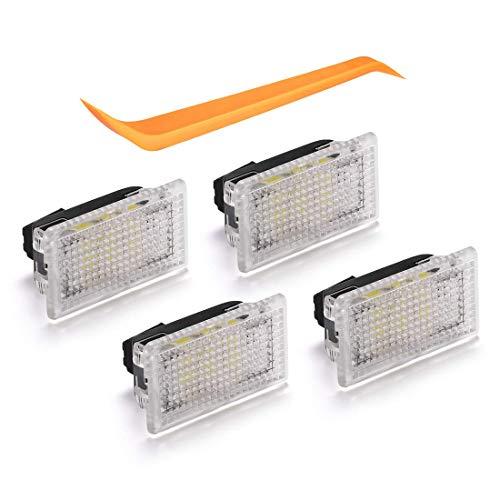 Hihey Model Zubehör Licht Ersatz Ultrahelle Innenleuchten Lampeneinbausatz mit Neigungswerkzeug für Model 3/Modell S/Modell X (4 Pack)