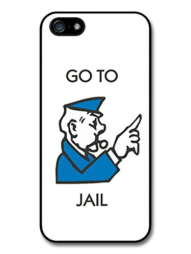 Go To Jail Board Game Police Officer Funny Cool Retro hülle für iPhone 5 | iPhone 5S | iPhone SE (Schwarz Gedruckt Police)