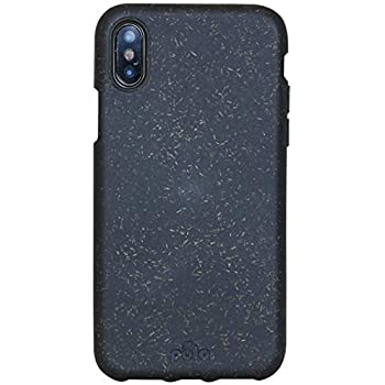 new arrival a8a00 18da3 Pela ECO SERIES - Compostable, Zero-Waste, Drop Absorption & Scratch  Protective iPhone case for iPhone X (White) … (Black)