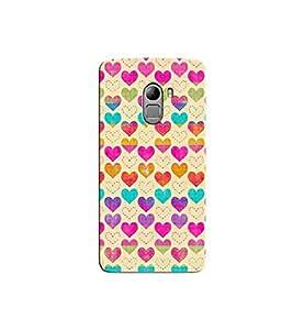 Citydreamz Colorful Hearts/Love/Valentine Hard Polycarbonate Designer Back Case Cover For Lenovo K4 Note