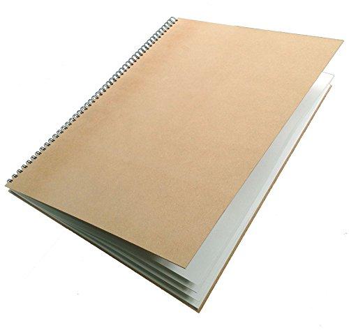 Artway Enviro - Skizzenbuch mit Spiralbindung - 100{0f5dab73250605d41194720616cdb38b2661096b5d531047cae62ff77d756ccc} Recycling-Zeichenpapier - Hardcover - 35 Blatt mit 170 g/m² - A2 Hochformat
