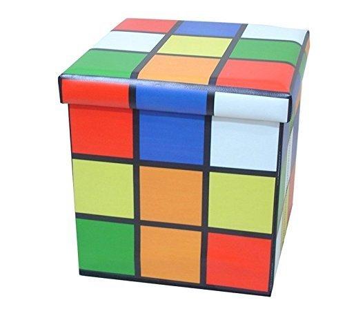 Rubik's Cube/Zauberwürfel Faltung Osmanischen Würfel Aufbewahrungsbox Faux Leder Gepolsterte Sitz 36x36x36cm