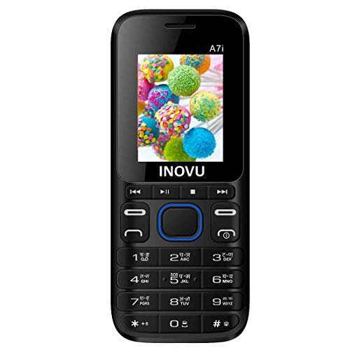 Inovu A7i Dual Sim Feature Mobile Phone with 1000 mAh Battery (Black+Blue)