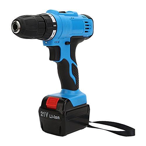 LESOLEIL Professional Taladro atornillador 21 V compacto de atornillador Cargador taladradora