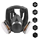 Respirateur À Masque Complet À Vapeurs Organiques avec 4 Masques À Charbon Actif, Peinture en Aérosol/Feu / Anti-Buée