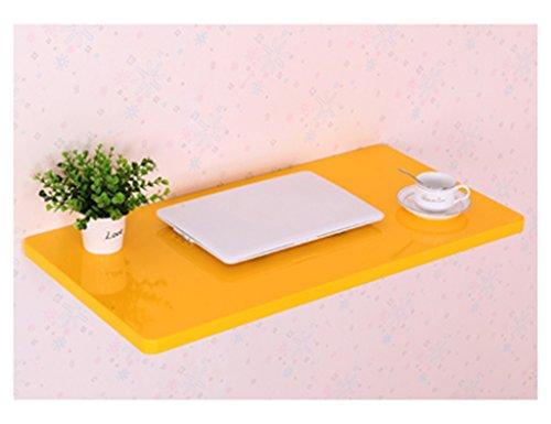 LCPG Tavolo da Biliardo da Tavolo da Tavolo da Muro Pieghevole con Vernice per Pianoforte Ambientale, Formato Opzionale, Giallo e Bianco Due Colori (Colore : Giallo, Dimensioni : 100 * 50cm)
