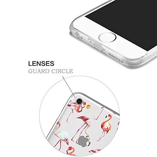 iPhone 6S Plus Transparente Case Cover,MingKun Ultra Mince Transparente TPU Bumper iPhone 6 Plus 5.5 pouces Soft TPU Silicone Clair Transparente Case Cover pour iPhone 6 Plus Clair Étui Housse Ananas  Picture-10