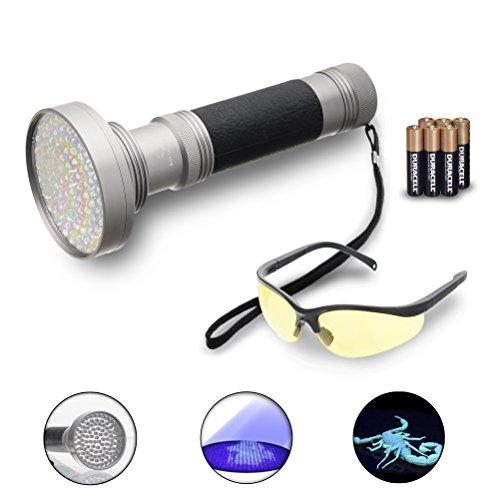 Preisvergleich Produktbild Hisea UV Schwarzlicht Taschenlampe Mit 100 LEDs zu Flecken-Detektor für Küchen, gefährliche Lecks, Fluorescence Kleidung, Scorpion, Counterfeit,Haustier Urin u,Leaks Diagnose Spot