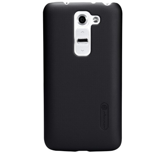 Nillkin Frosted Hard Back Case Cover for LG G2 + Screenguard - Black