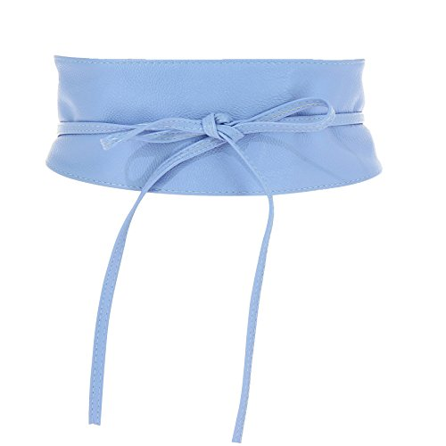 Fashiongen Damen Taillengürtel Breiter Wickelgürtel MICA - Lavendelblau, - Für Taille Gürtel Die