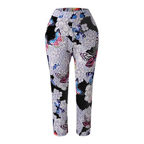 Setsail Damen Casual Mode Butterfly Print Plus Größe hoch taillierte Leggings Bequeme Hose -