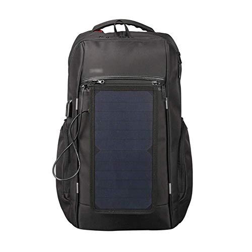 LZGBH Wiederaufladbarer Solarrucksack Mit Großer Kapazität 17-Zoll-Laptop-Rucksack Wasserdichter Reiserucksack