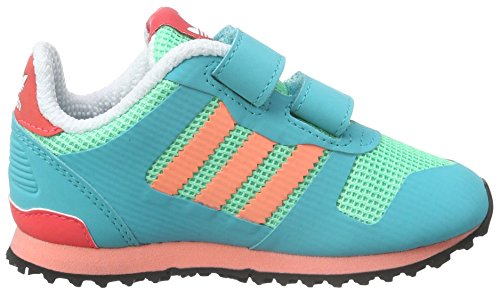 adidas Zx Cf, Chaussures Marche Mixte Bébé Vert (Shock Green/Sun Glow/Ftwr White)