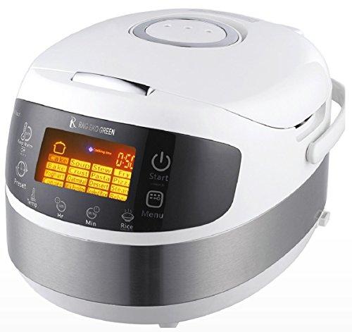 RNG EKO GREEN (3-in-1) Digital Smart Electric Multifunction Cooker/Rice Cooker/Stir Fryer [Capacity-1.8...