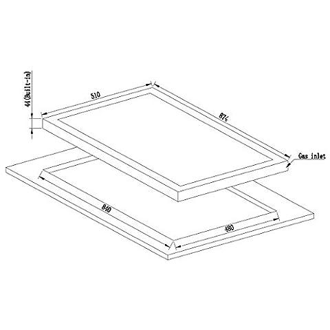 Millar-GH9051TB-Placa-de-coccin-de-cristal-templado-con-5-quemadores-de-gas-90-cm-color-negro