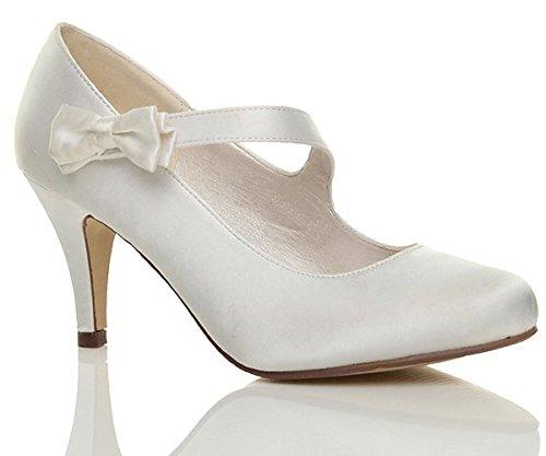 Talon Chaussures Cassé Mariage De Haut Pointure Babies Blanc Moyen wt6Iz1Rq