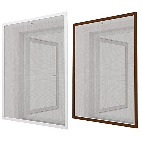 Sol Royal® Insektenschutz-Fenster 100x120 cm - Fliegengitter Weiß Alu-Rahmen Bausatz - ohne Bohren & Schrauben - kürzbar