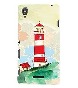 PrintVisa Travel Lighthouse Art 3D Hard Polycarbonate Designer Back Case Cover for Sony Xperia T3