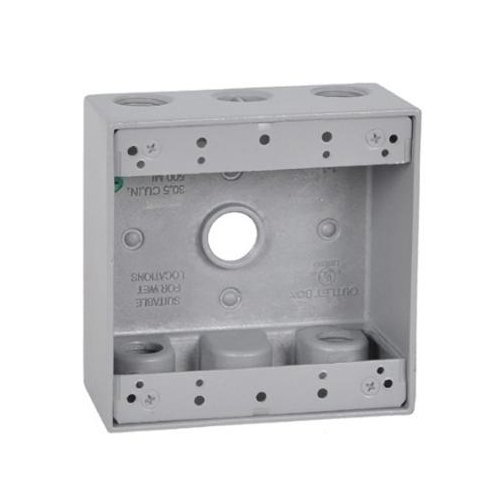 HUBBELL ELECTRICAL PRODUCTS GRAY 2-GANG OUTLET BOX