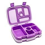 Bentgo Kids – Kinder Lunchbox/Bento Box/Brotdose mit 5 Unterteilungen, auslaufsicher (Blau, Grün oder Lila zur Auswahl)