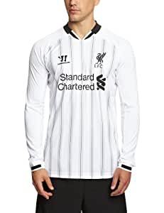 Warrior Men's LFC Liverpool 2013 2014 Home Goalkeepers Replica Long Sleeve Jersey - Anthracite/White, Large