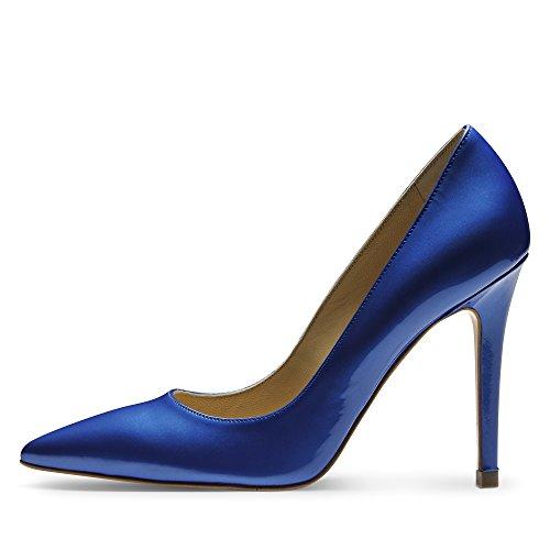 Alina décolleté da donna vernice blu royal