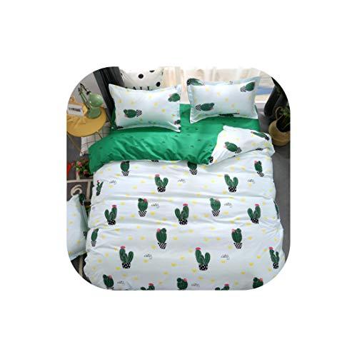 Bettwäsche für Kinder Bettwäsche-Sets Cactus 4 Stück 180 * 220 Bettbezug-Set Heimschlafsaal, 19, Voll, flaches Blatt (Bettwäsche Für Kinder, Zweibettzimmer)