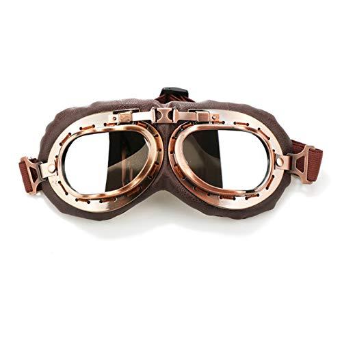 Radbrille Für Brillenträger Retro Klassische Lokomotive Brille Motorrad Brille Lokomotive Maske Lokomotive Prinz Brille Ritter Brille Silver Damen Herren