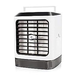 Mini Klimaanlage Air Cooler, Mini luftkühler, Luftbefeuchter und Luftreiniger, Super wind speed Tragbare Klimaanlage Luftkühler für Büro, Schlafzimmer, Küche