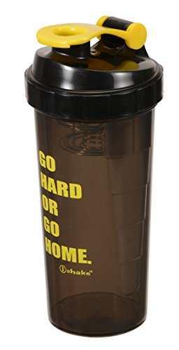 Ishake Speed 700 Shaker Bottle 700 ml , (Black Body, Yellow Lid)  available at amazon for Rs.266