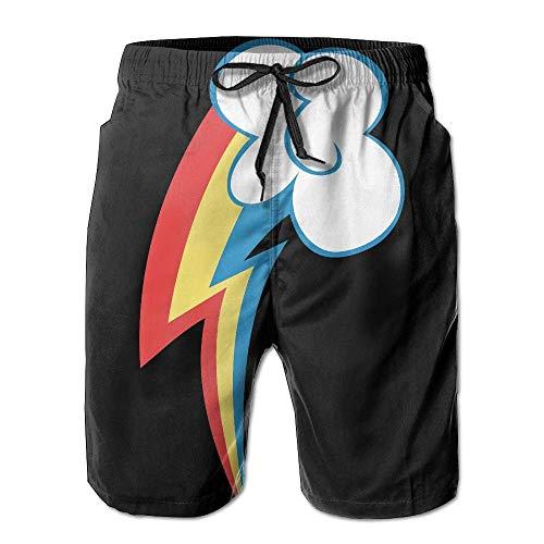 Das schöne Zeichen des Regenbogens Sprint Männer/Jungen Casual Shorts Badehose Badebekleidung elastische Taille Strandhose mit Taschen, M Sprint Micro-usb