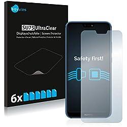 Savvies Pellicola Protettiva Compatibile con Huawei P20 Lite Protezione Schermo [6 Pezzi]