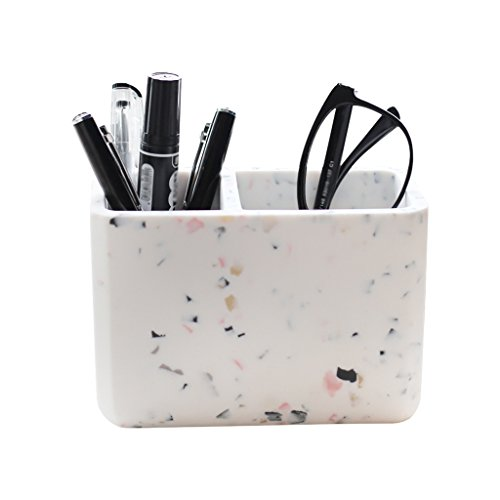DZXM Stifthalter Harz Stift Topf Mode Regal Student Stift Box Anti-Marmor Schreibtisch Aufbewahrungsbox -