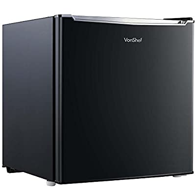 VonShef 35L Mini Freezer - Table Top Freezer with Temperature Control, Reversible Door & Removable Shelving - Black