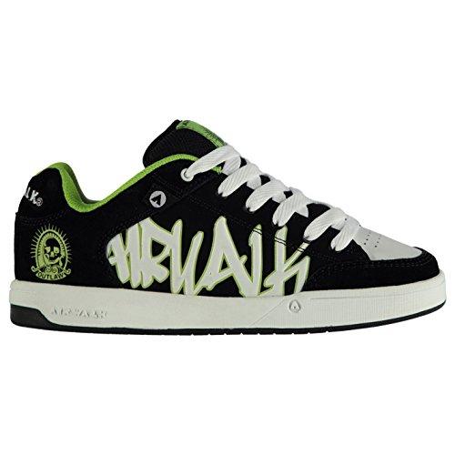 airwalk-outlaw-junior-enfant-garcons-skate-chaussures-baskets-a-lacets-sneakers-black-wht-lime-6-39